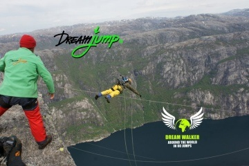 Dream Walker I World Record 980m / 3215ft Norway Kjerag - World's Tallest Dream Jump