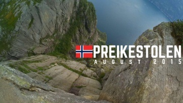 On the top of Preikestolen 2015 Norway (Pulpit Rock) I XiaoYi Action camera