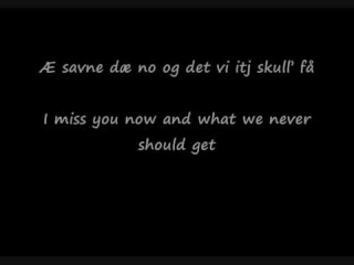 DDE-det fine vi hadd sammen med (the nice time we had) lyrics.wmv