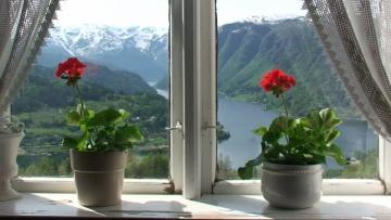 Views from Hardanger in Hordaland, Norway