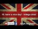 Język Angielski najczęściej używane zwroty część 1