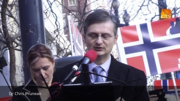Chris Prunean at the San Francisco Protest Supporting the Bodnariu Family