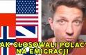 Jak głosowali Polacy na emigracji - Norwegia / Wielka Brytania / USA / Polska