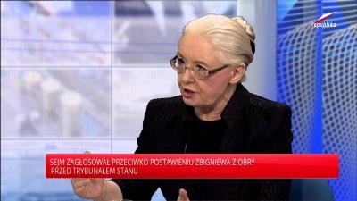 Telewizja Republika - prof. Grażyna Ancyparowicz- Republika Na Żywo 2015-09-25